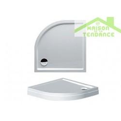 Receveur de douche acrylique quadrant RIHO DAVOS 279 80x80x4,5 cm avec pieds et tablier