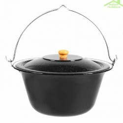 Chaudron pot émaillé avec couvercle