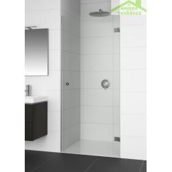 Porte battante de douche gauche RIHO ARTIC A101 70x200 cm verre clair