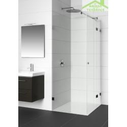 Parois de douche double battante droite RIHO ARTIC A203 100x80x200 en verre clair