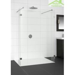 Parois de douche universelle fixe RIHO ARTIC A404 en verre clair