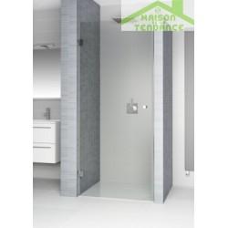 Porte battante de douche universelle fixe SCANDIC S101 en verre clair