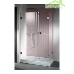 Porte battante de douche universelle RIHO SCANDIC S204 en verre clair