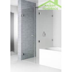 Porte pivotante et écran de baignoire RIHO SCANDIC S208 90x90x200 cm en verre clair
