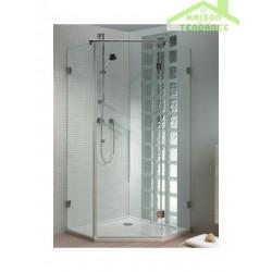 Porte pivotante et écran de baignoire RIHO SCANDIC S301 en verre clair