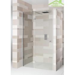 Porte battante de douche universelle RIHO POLAR P104 en verre clair