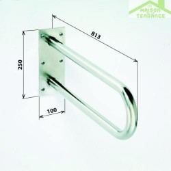 Barre d'appui relevable en forme U HELP en acier inoxydable