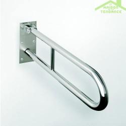 Barre d'appui relevable en forme U HELP en acier brossé