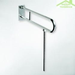Barre d'appui relevable en forme U HELP + jambe d'appui en acier brossé
