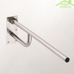 Barre d'appui HELP en acier brossé 76x25x10cm