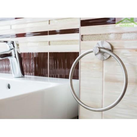 Porte serviette anneau BETA en chrome 16cm x 19cm x 5,5cm