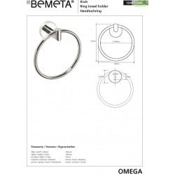 Porte-serviettes double OMEGA 65,5x5,5x11cm