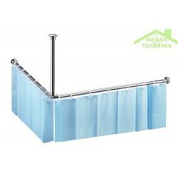 Tringle pour rideau de douche en acier poli  2000mm