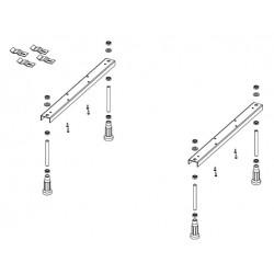 Baignoire d'angle acrylique RIHO DELTA 150x80 cm