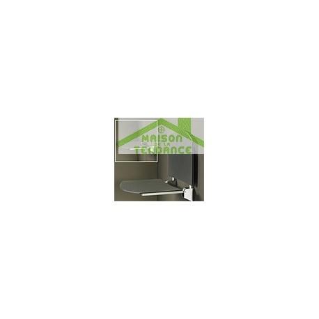Siège de douche  avec dossier en ABS anthracite 36x35 cm